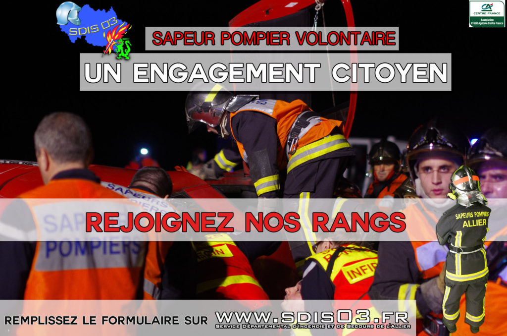 Sdis_03 Recrutement sapeurs-pompiers volontaire