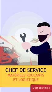poste chef service matériels roulants et logistique