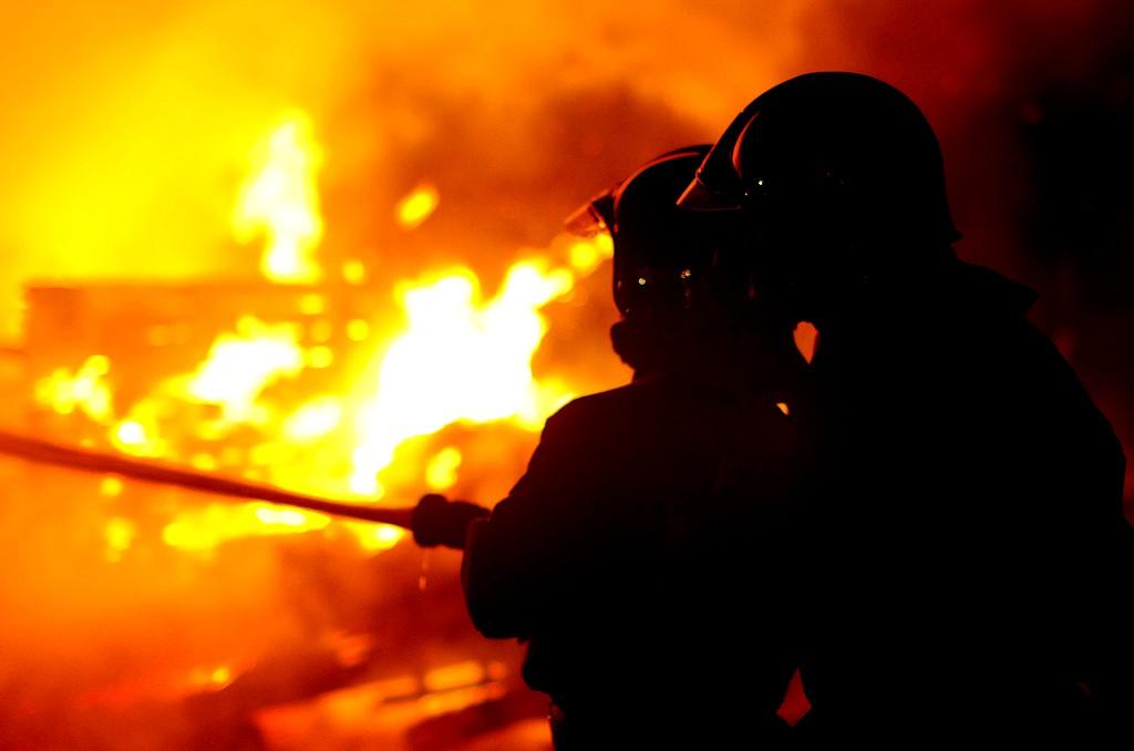 Incendie à Saint Quintin sur Sioule