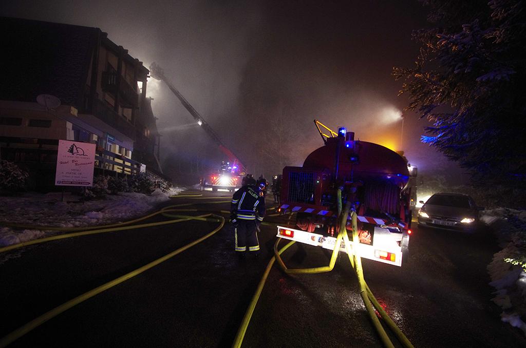 La Loge des Gardes : un incendie détruit l'hôtel-restaurant de la station