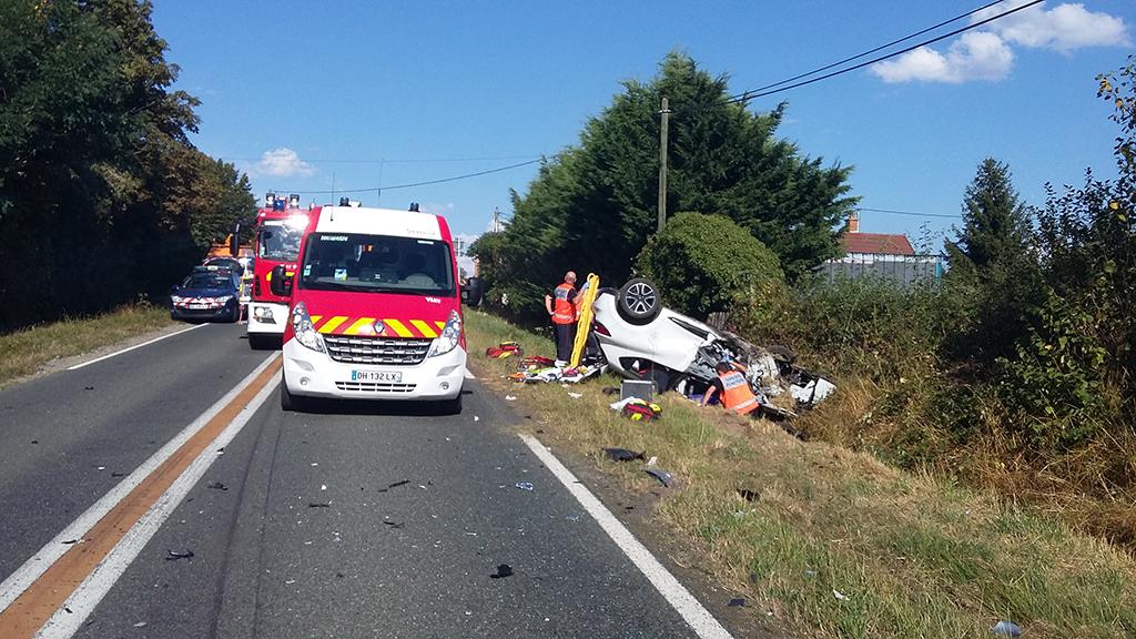 Accident de la circulation à Lusigny : 4 voitures impliquées