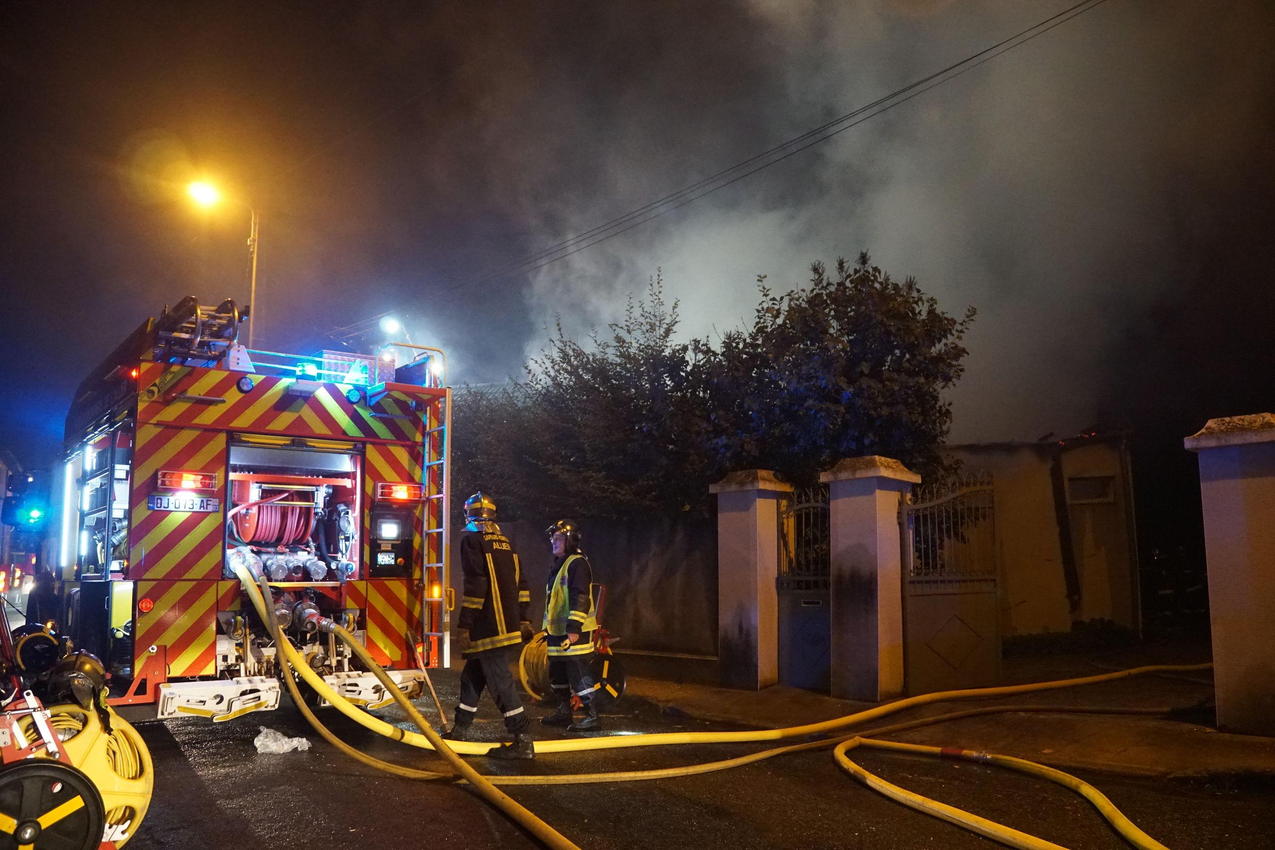 Incendie Rue Gaspard Roux | Moulins [VIDEO]