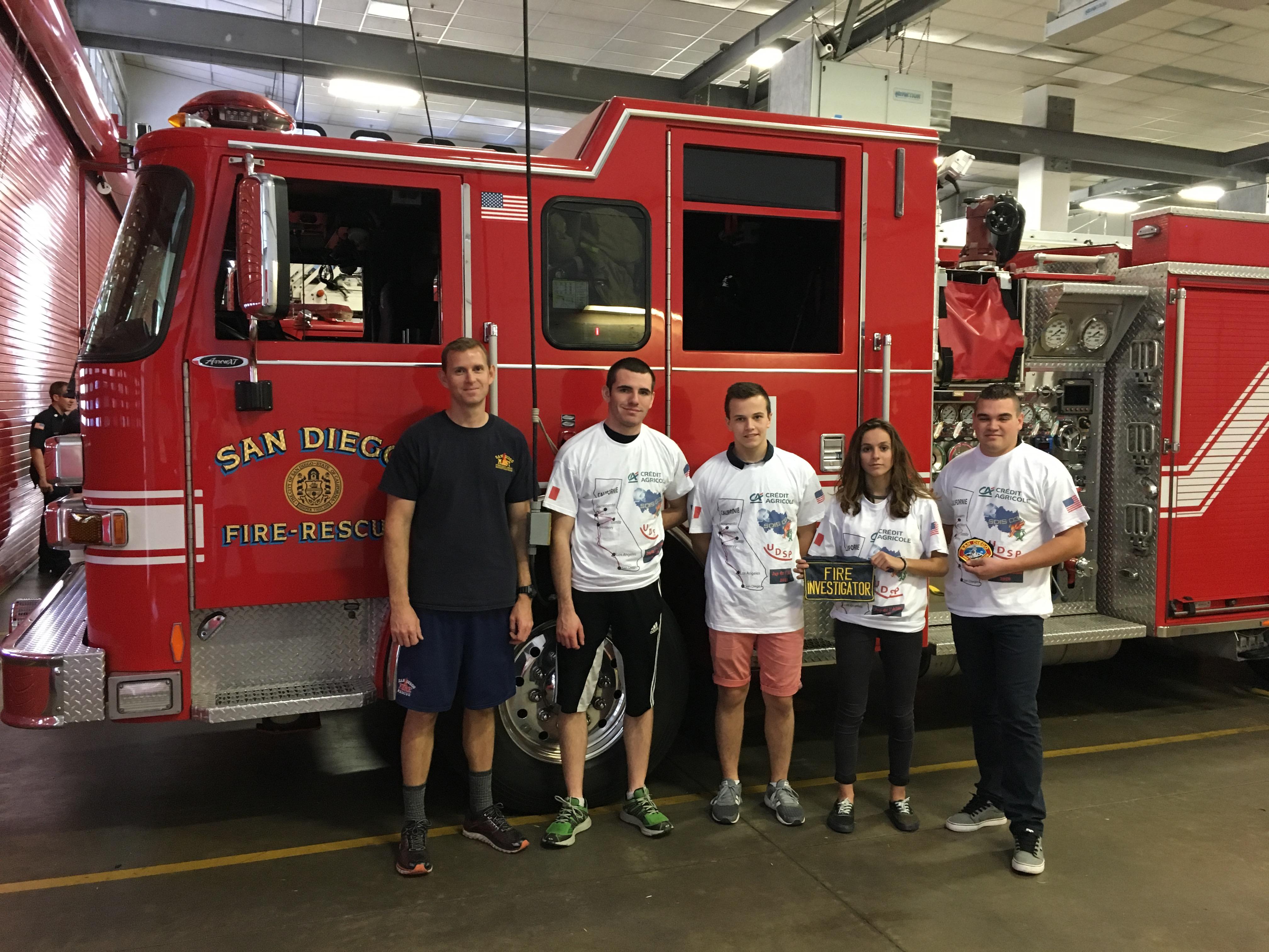 3 Jeunes Sapeurs-pompiers de l Allier à la découverte des Etats-Unis