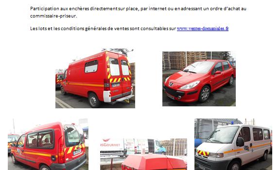 Vente de véhicules du SDIS03 au domaine