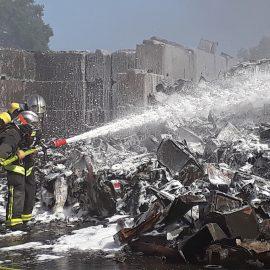 Violent incendie à Domérat