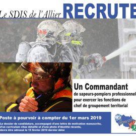 Le SDIS de l'Allier recrute