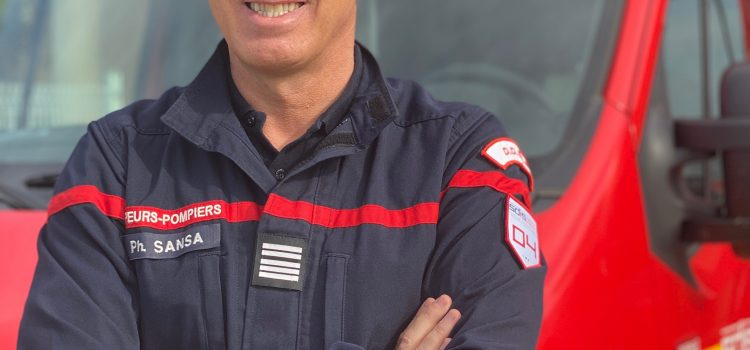 Le Colonel Philippe Sansa Chef de corps, Directeur départemental du SDIS03, le 1er décembre 2020